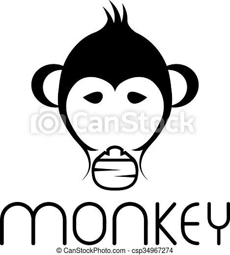 monkey vector design template
