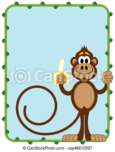 Monkey With Banana - csp46610597
