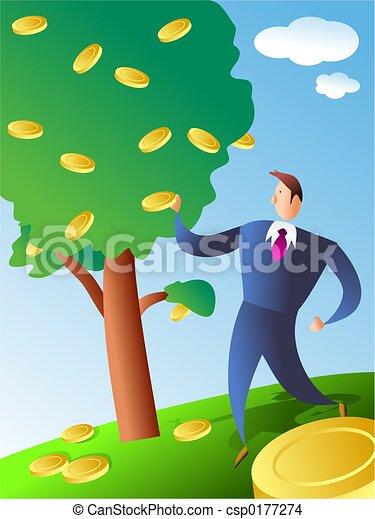 monnaie, arbre - csp0177274
