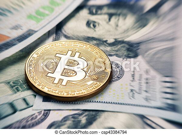 monnaie, bitcoin - csp43384794