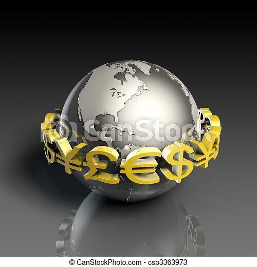monnaie, change - csp3363973