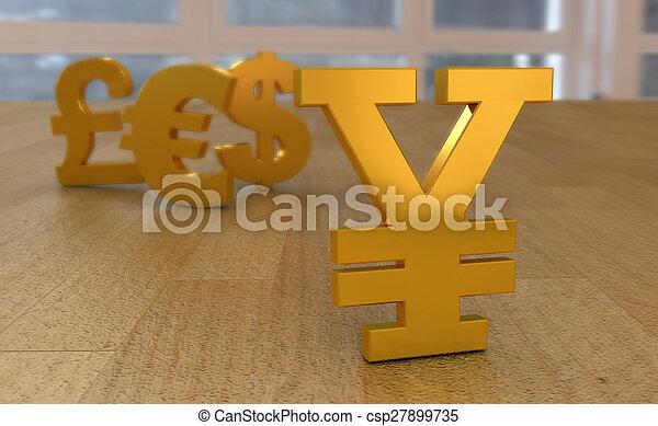 monnaie, insignes, mondiale - csp27899735