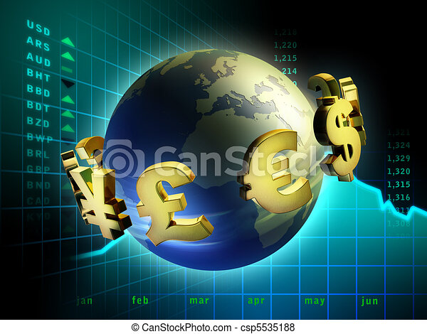 monnaie, mondiale - csp5535188