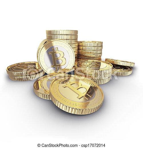monnaie, numérique, bitcoin, doré - csp17072014