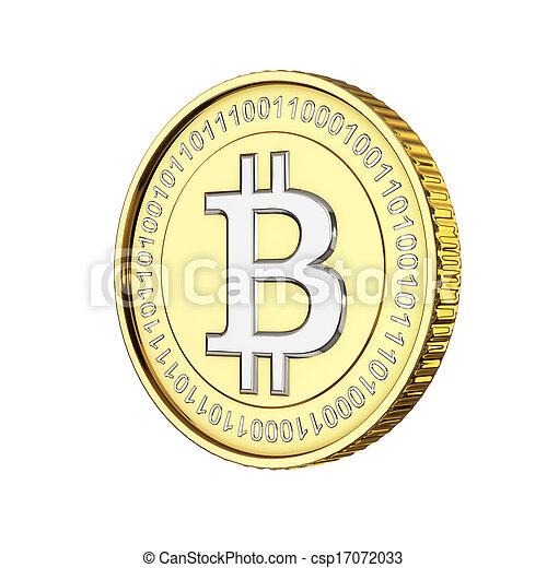 monnaie, numérique, bitcoin, doré - csp17072033