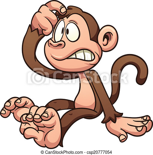 Mono de dibujos animados - csp20777054