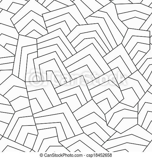 Monochrome alte, nahtlose Muster - csp18452658