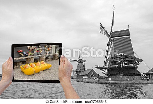 Monochromatic concept travel to Netherlands - csp27065646