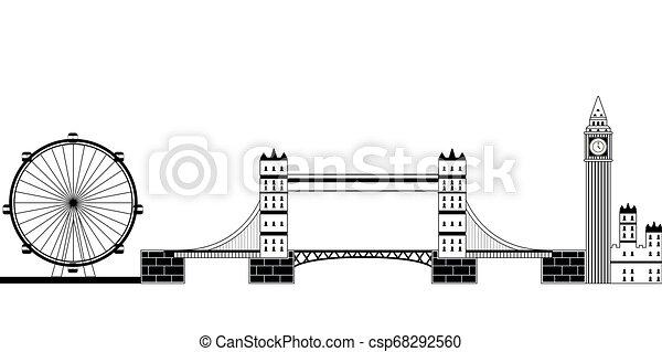 Monochromatic London cityscape - csp68292560