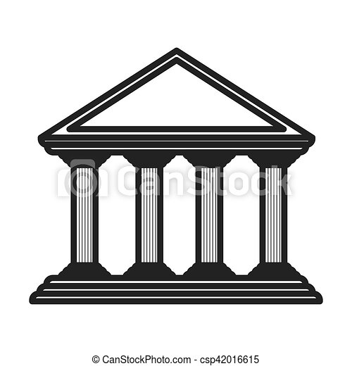 monochrome color of greek temple parthenon vector vector clip art rh canstockphoto com