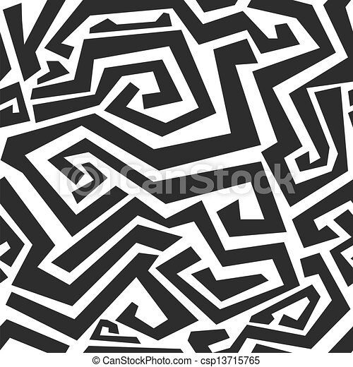 monochrome curved lines seamless texture - csp13715765