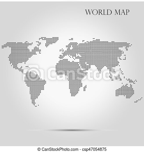 Monochrome halftone dotted world map vector illustration monochrome halftone dotted world map vector illustration gumiabroncs Image collections