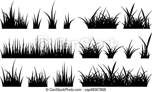 monochrome illustration of grass vector silhouettes monochrome illustration of grass vector black silhouettes nature grass https www canstockphoto com monochrome illustration of grass vector 48367868 html