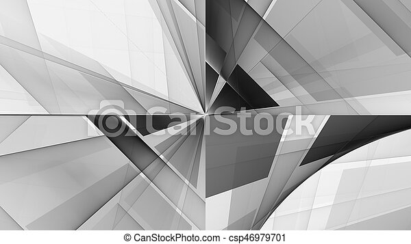 Monochrome pattern fractal background - csp46979701