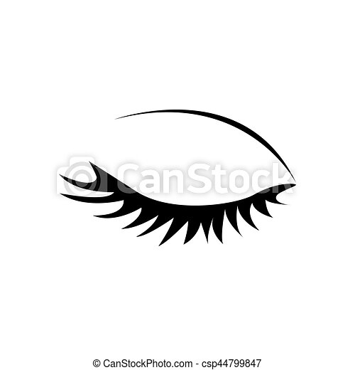 monochrome silhouette with female eye closed vector eps Beautiful Woman Eyes Clip Art Clip Art Girls Brown Eyes