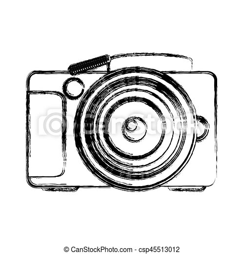 monochrome sketch of analog photo camera vector illustration vector rh canstockphoto ca camera vector logo camera vector image