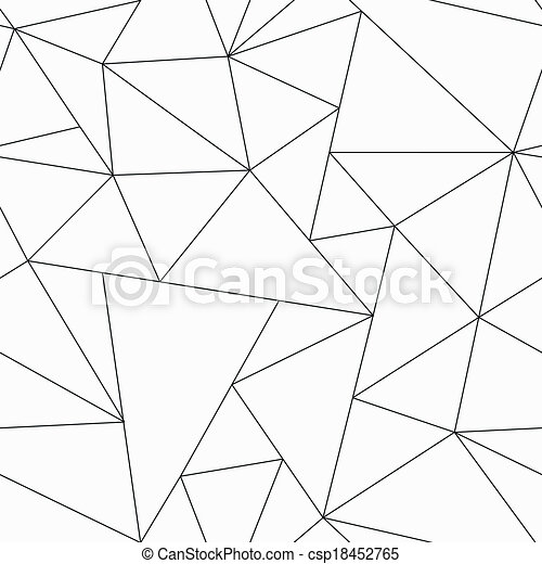 monochrome triangle seamless pattern - csp18452765
