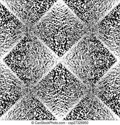 monochroom, geometrisch ontwerp, seamless, model - csp27326950