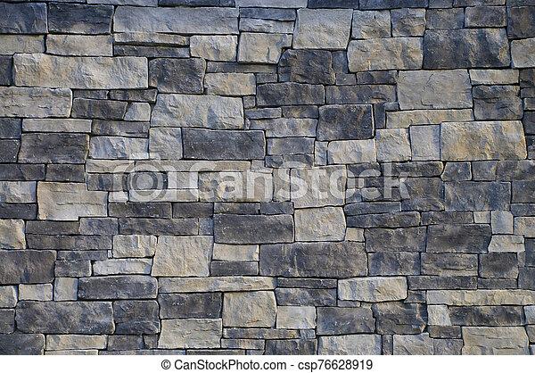 monocromático, pared, albañilería - csp76628919