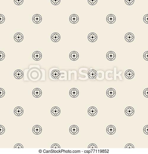 monocromo, patrón, plano de fondo, geométrico, seamless, simple, forma - csp77119852