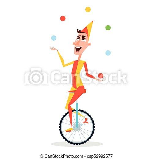 Monocycle jongleur balles cirque promenades - Image jongleur cirque ...