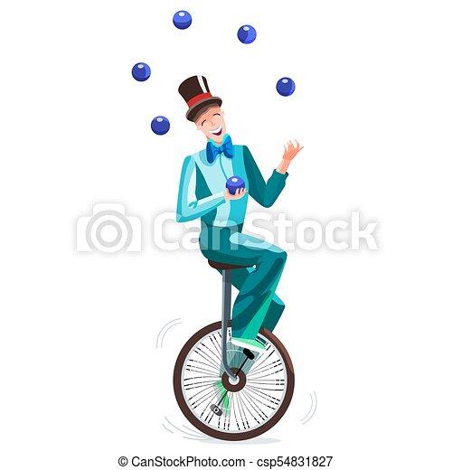 Monocycle Jongleur Cirque Jongleries Jongleur Cylindre