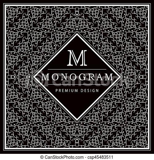 Monogram Design Elements Graceful Vector Clip Art Mh Letter Logo