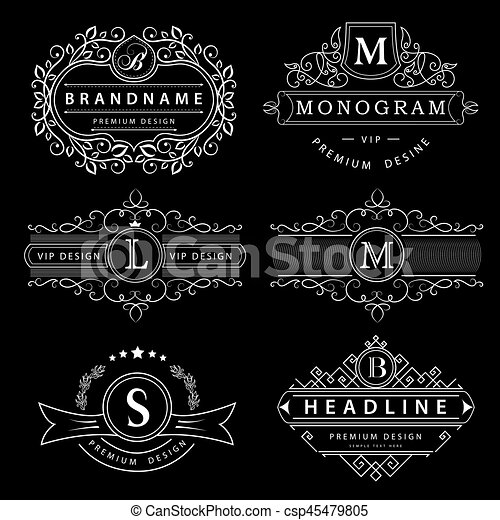 Monogram design elements graceful template elegant line art logo monogram design elements graceful template elegant line art logo business sign identity for friedricerecipe Images