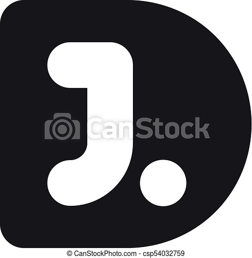 D J Logo Vector Clipart Royalty Free 210 D J Logo Clip Art Vector