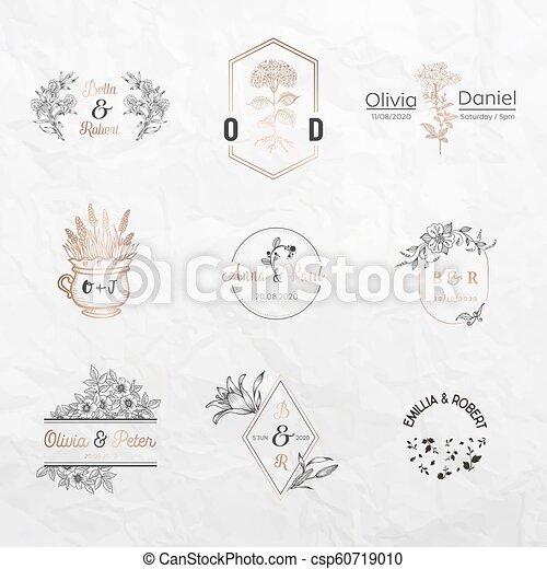 Monogram Plantillas Boutique Restaurante Colección