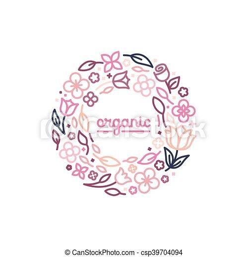 monogram, styl, pojęcie, linearny, wektor, projektować, szablon, modny, logo - csp39704094