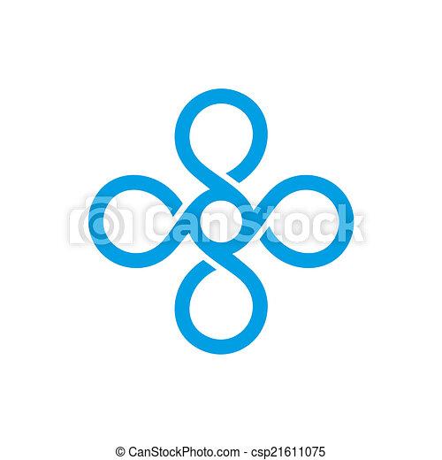 monogram, vendemmia, vettore, template., logotipo - csp21611075
