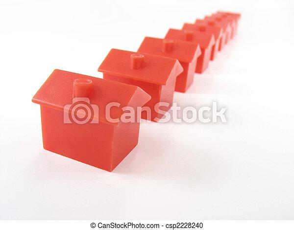 Monopoly houses - csp2228240