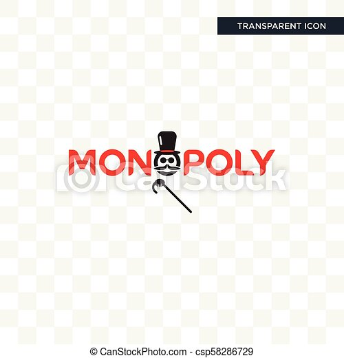 monopoly vector icon isolated on transparent background monopoly