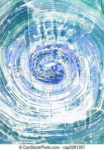 monoprint, watercolour - csp0281357