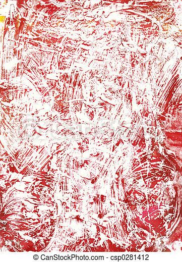 monoprint, watercolour - csp0281412