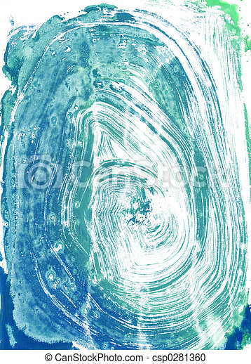 monoprint, watercolour - csp0281360