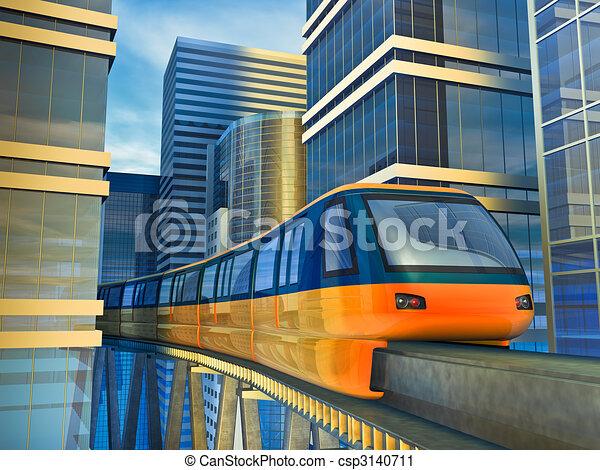 monorail train - csp3140711