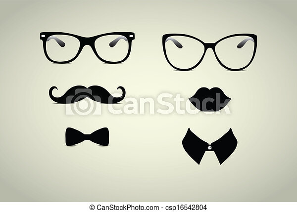 monsieur, hipster, dame, icohs - csp16542804