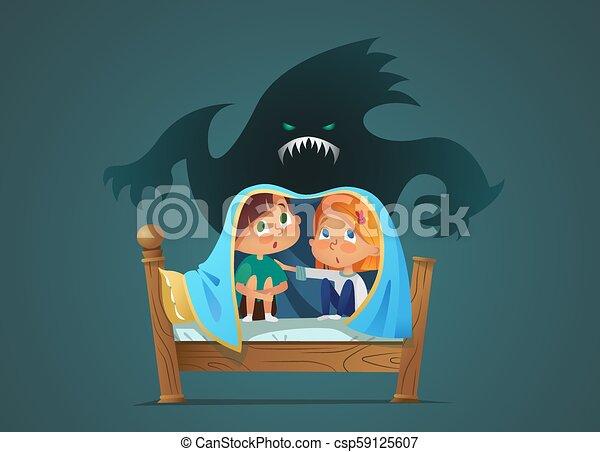 Monster blanket bambini fantasma seduta immaginario