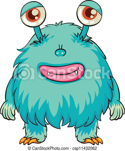 illustration of a scary monster on a white background clip art rh canstockphoto com scary clip art free scary clipart faces