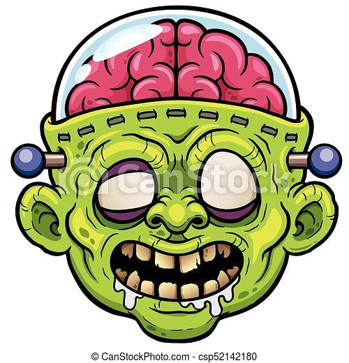monster face vector illustration of cartoon monster zombie face
