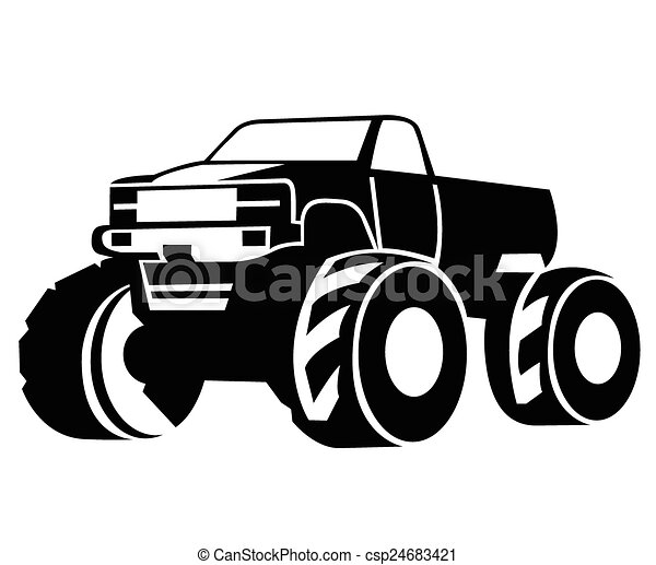 monster truck vector vector illustration search clipart drawings rh canstockphoto com vector trucking company vector trucking utah