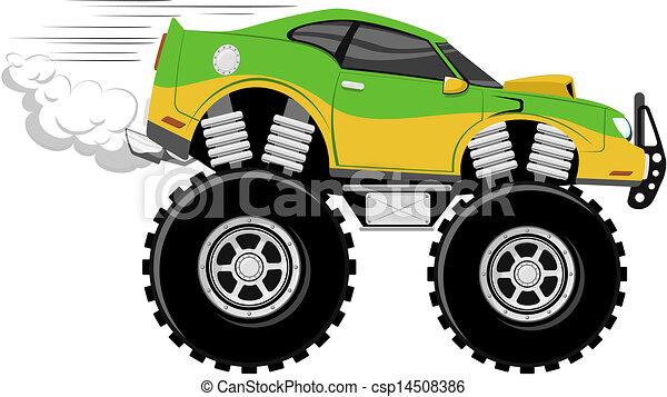 monstertruck race car - csp14508386