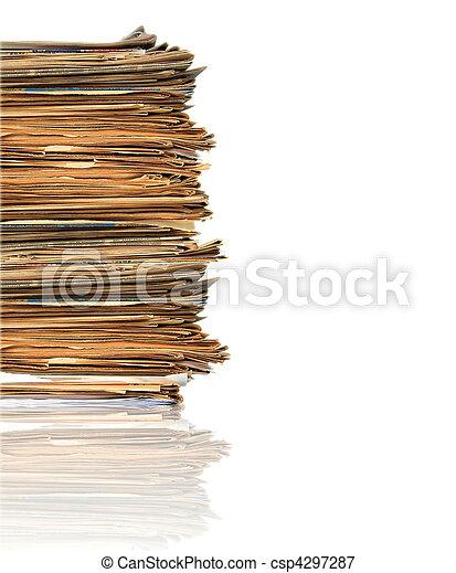 Montones de papeles - csp4297287