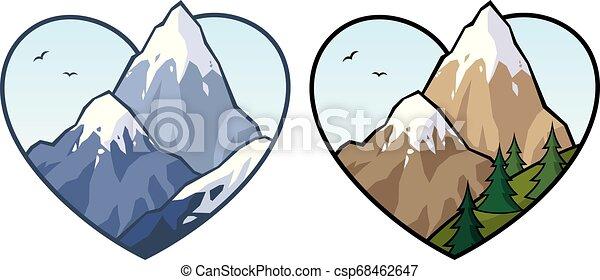 Señal de amor de montaña - csp68462647