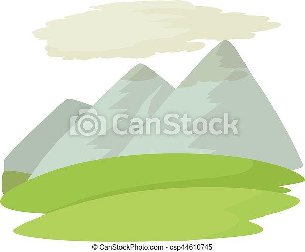 icono de montaña, estilo de dibujos animados - csp44610745