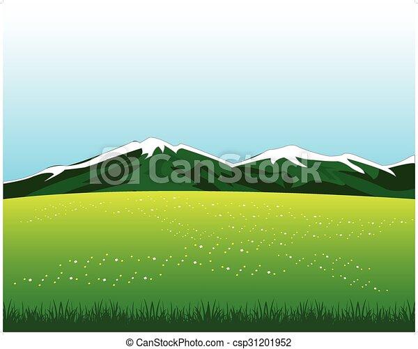Glade con flores en la montaña - csp31201952