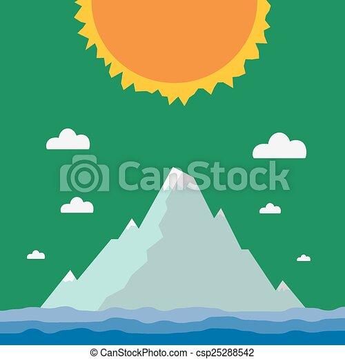 Montaña de hielo - csp25288542