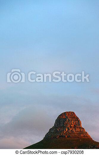 montaña, ocaso - csp7930208